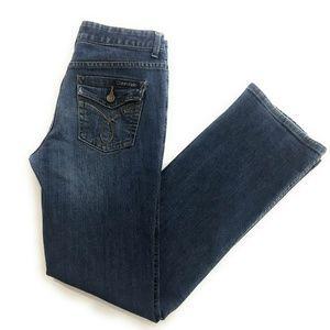 Calvin Klein Straight Slight Bootcut Jeans, Size 4